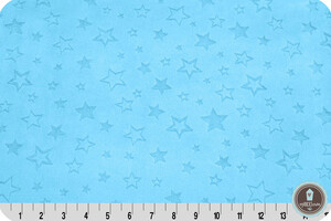 Shannon Minky Star Turquoise