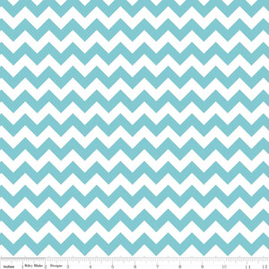Riley Blake Small Chevron Aqua