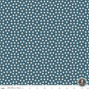 Riley Blake Lucky Star Gwiazdki Mini Navy
