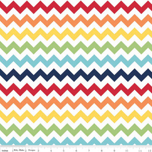 Riley Blake Jersey Small Chevron Rainbow