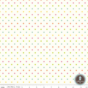 Riley Blake Swiss Dots Kropki Multi Na Ecru