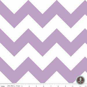 Riley Blake Large Chevron Lilac White