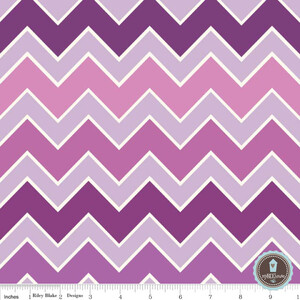 Riley Blake Shaded Chevron Grape