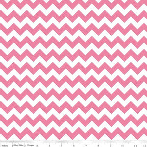 Riley Blake Jersey Small Chevron Hot Pink