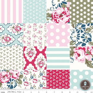 Riley Blake Wiltshire Daisy Patchwork Pink