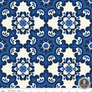 Riley Blake Home Decor Damask Granat