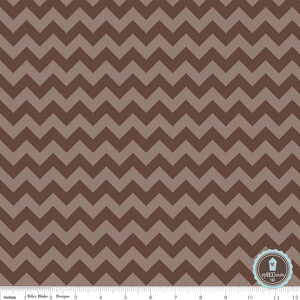 Riley Blake Small Chevron Zygzak Brown (outlet)