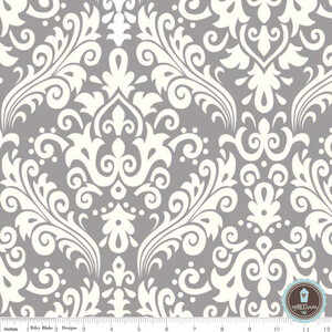 Riley Blake Home Decor Duży Damask Szary