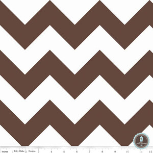 Riley Blake Large Chevron Brown White
