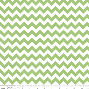 Riley Blake Small Chevron Zielony