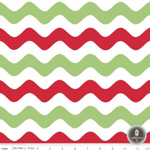 Riley Blake Wave Fala Medium Christmas