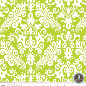 Riley Blake Home Decor Duży Damask Lime