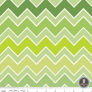 Riley Blake Shaded Chevron Grasshopper