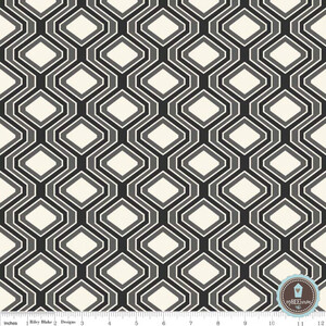 Riley Blake Home Decor Diamonds Black