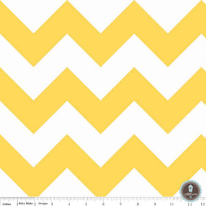 Riley Blake Large Chevron Yellow White