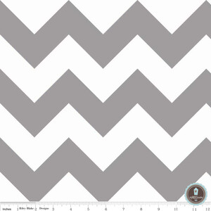 Riley Blake Large Chevron Gray White