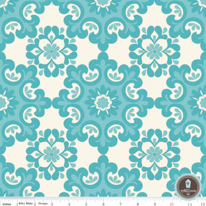 Riley Blake Home Decor Damask Aqua