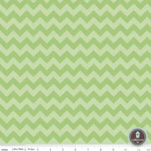Riley Blake Small Chevron Zygzak Green