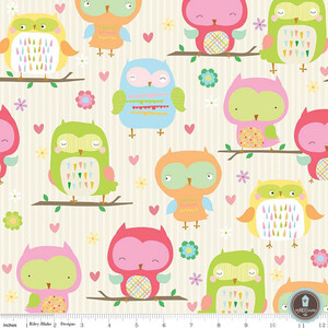 Riley Blake Owl&Co Sowy Cream