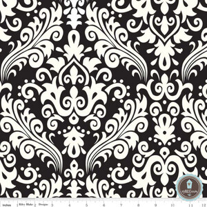 Riley Blake Home Decor Duży Damask Czerń