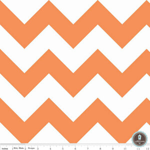 Riley Blake Large Chevron Orange White