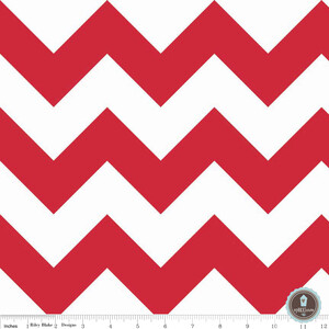 Riley Blake Large Chevron Red White