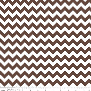 Riley Blake Small Chevron Czekolada (outlet)
