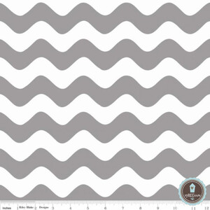 Riley Blake Wave Fala Medium Gray